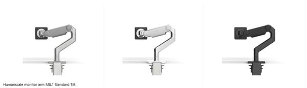 Humanscale monitor arm M8.1 Standard Tilt