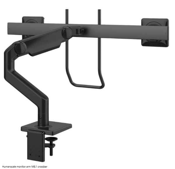 Humanscale monitor arm M8.1 crossbar