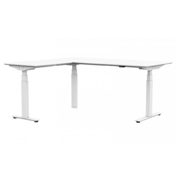 ErgoLine Pro zit/sta bureau 65-130 cm met hoekblad