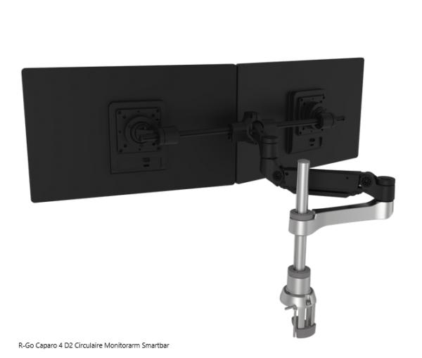 R-Go Caparo 4 D2 Circulaire Monitorarm Smartbar