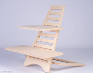 Hout of office Standesk