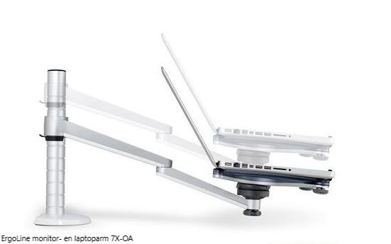 ErgoLine monitor- en laptoparm 7X-OA