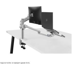 ErgoLine monitor- en laptoparm gasveer 3S-OL